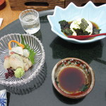 懐石 櫻 - お造りと辛子豆腐