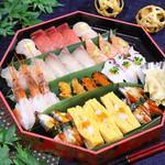 寿司ろばた 八條 - 料理写真:【テイクアウト】本格握り盛り合わせ