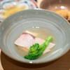 二条 やま岸 - 料理写真:伊勢海老の自家製唐墨 雲丹醤油がけ