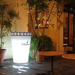 カフェ・ミケランジェロ - 雨上がりのパティオ