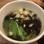 三田製麺所 - スープは鯛だし塩をチョイス。