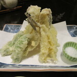 舞扇 - 「メゴチとハゼの天ぷら盛り合わせ」