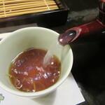 舞扇 - 蕎麦湯はすっきりとした自然体