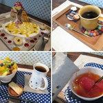 cafe zakka  hinatabocco - ミルクレープ・深入りコーヒー・つめたいフルーツ紅茶 2012.5.12撮影