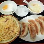 中国料理 餃子菜館 - 餃子定食(焼き餃子)