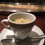 130450396 - エスプレッソコーヒーカップに味噌汁というミスマッチが新鮮(≧∀≦)