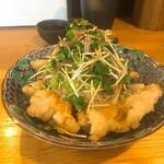 手打蕎麦 ちりん - 鶏天ポン酢香味野菜のせ