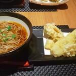 麓屋 - 料理写真:穴子と鱚の天麩羅お蕎麦