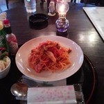 13046888 - トマトときのこのスパゲティ 800円