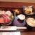 ごはんや金沢 - 海鮮丼大盛り(小鉢 ニラ玉)