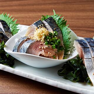 日本一脂がのったと称される「八戸前沖サバ」をお楽しみください