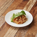 WIRED CAFE Dining Lounge - ランチ ベーコンとホウレン草のトマトソースパスタ