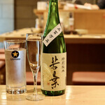 天ぷらと日本酒 明日源 - 特別純米 若葉