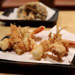 天ぷらと日本酒 明日源 - 天使のエビ