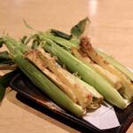 天ぷらと日本酒 明日源 - 皮付ベビーコーン