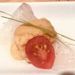 いちりん - 朝〆鮮魚の雲丹包み造り