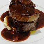 俺のフレンチ 博多 - 牛フィレ肉とフォアグラのロッシーニ(フォアグラ増量)