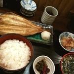 mihashiya - 縞ほっけ定食 830円