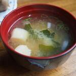 グリル シマダ - ミックスセット(味噌汁)