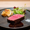 銀座 大石 - 料理写真:岐阜県飛騨牛とび牛ランプ肉の炭火焼 トリュフのソース
