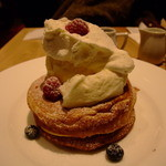 カフェ&ブックス ビブリオテーク - パンケーキ
