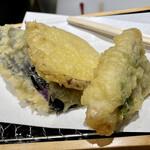 天ぷらと寿司18坪 - 天ぷら6種盛り合わせ@980円+税