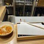 天ぷらと寿司18坪 - 天ぷら到着前