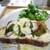 Q cafe - イワシチーズのバジルトマトサンド