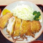 とんかつ山道 - 納豆チーズかつ定食