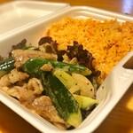Ethnic BANANA - 豚肉と胡瓜の炒め物キムチのバターライス弁当