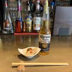 Kicchinandochikimpepuchido - お通しとコロナビール