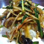中国台湾料理 王府 - 写真で見ると、ほかの飯類と見た目がにている・・・