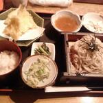 そば清 - 料理写真:きす天ぷら定食 ざる大盛り