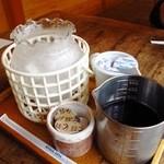 らんぷ屋  - アイスコーヒーはこの状態で提供されます