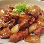 13057939 - 甘辛・鶏肝の照焼き