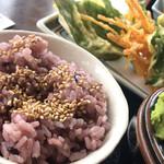 白糸庵 - 黒米ご飯