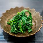 蓮心 - 春菊の炒め物
