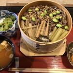 料理旅館 田事 - 季節メニュー 山菜せいろめっぱめし