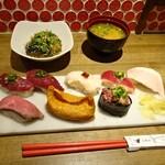 高槻肉寿司 - お昼のお寿司 盛り合わせ
