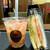 タリーズコーヒー - 料理写真:赤のベリーナタデココ&HLTサンドイッチ