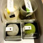 桔梗屋織居 - 料理写真:ミルクと抹茶のとろりとごまと抹茶のほろりを購入