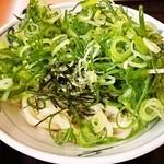 金比羅製麺 - ぶっかけうどん+とろろ(細うどん)
