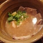 つけ麺 えん寺 - ベジポタ肉入りつけ麺(太もちもち麺)