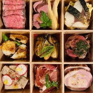 季節の食材を使った多彩お料理