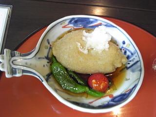 蕎麦 阿き津 - 蕎麦がきの揚げだし ¥600