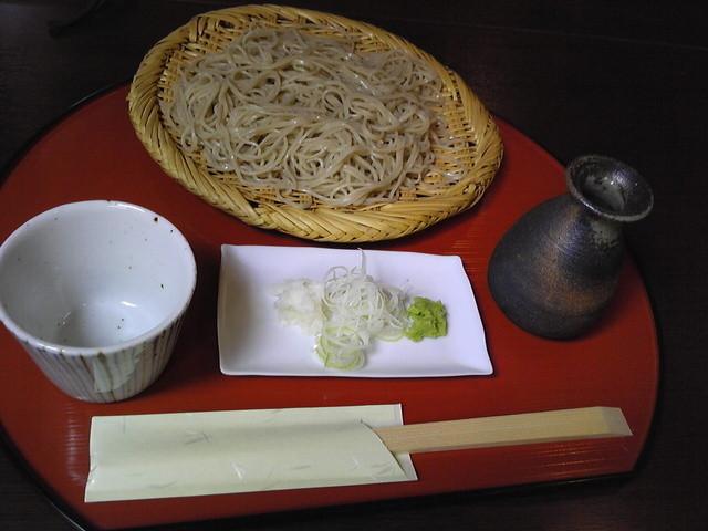 蕎麦 阿き津 - セイロの大盛り(¥900、大盛りは¥1200)