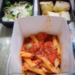 イタリアン 亀戸 Osteria Hana - タコとナスとオリーブ ピリ辛アラビアータ1090円