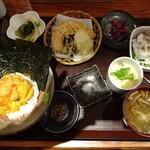 130621503 - うに丼と野菜天ぷら御膳
