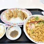餃子の王将 - 200523土 埼玉 王将 戸田公園五差路店 温玉麻婆麺Bセット餃子3個