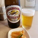 大勝軒 - 瓶ビール(おつまみ付き)